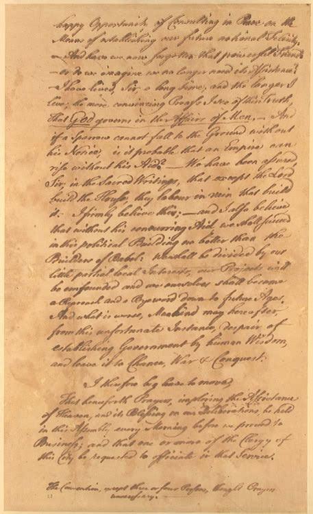 Franklin Speech