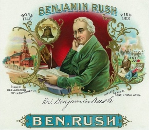 Benjamin Rush Cigar Box Label